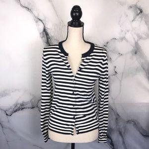 🦋J CREW🦋 navy stripe Caryn cardigan